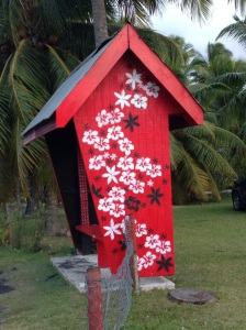 Rarotonga bus stop
