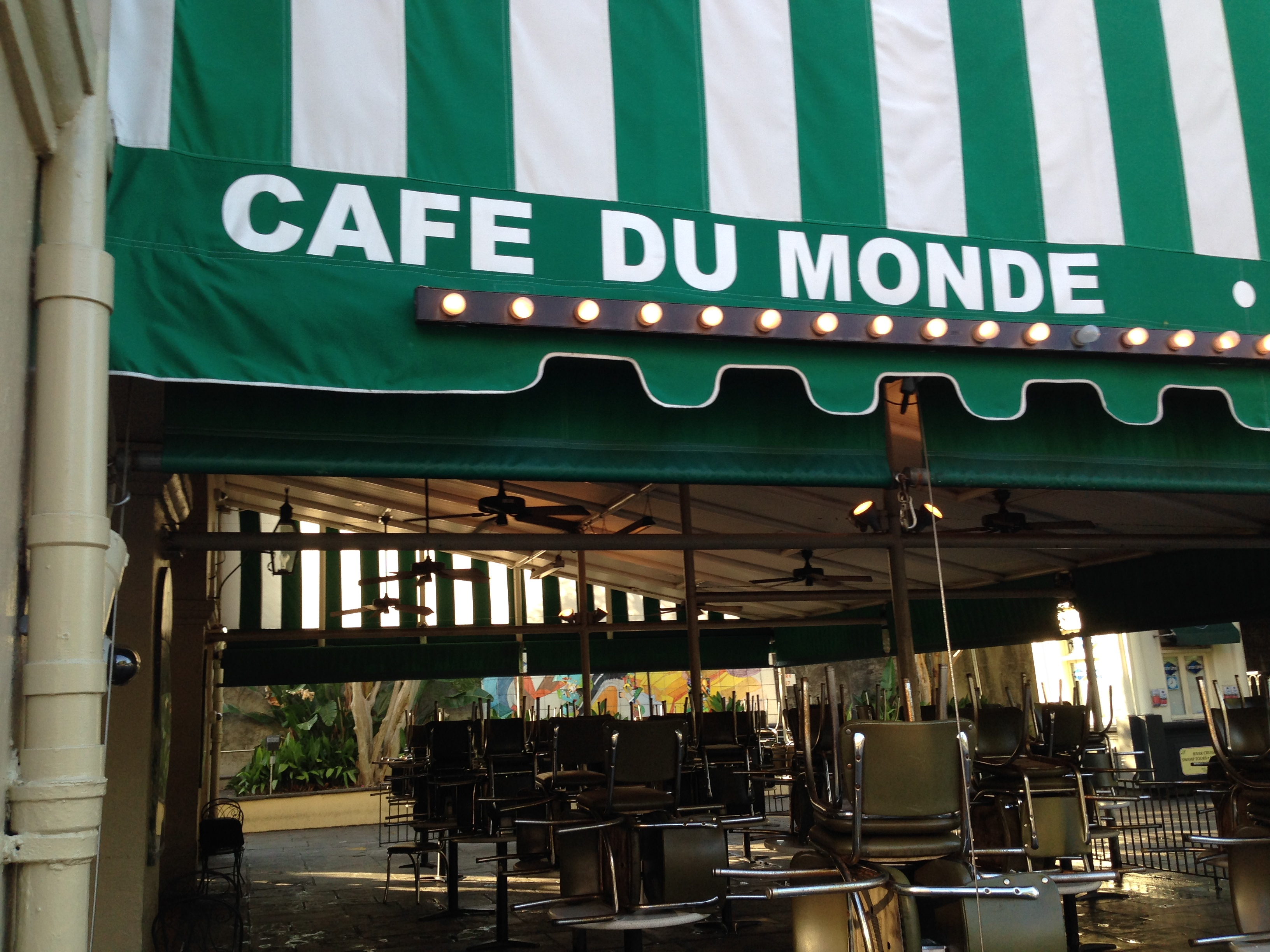 famous new orleans beignets at cafe du monde foodietraveller. Black Bedroom Furniture Sets. Home Design Ideas