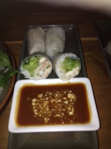 Annam prawn rice paper rolls