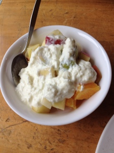 Refuel fruit salad and yoghurt